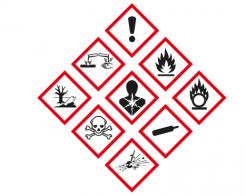 Uusia animaatioita kemikaalien varoitusmerkeistä
