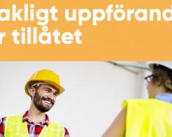 Sakligt uppförande tillåtet även på svenska